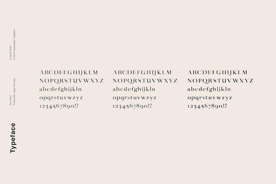 Ava - A Classy Serif Typeface - 3