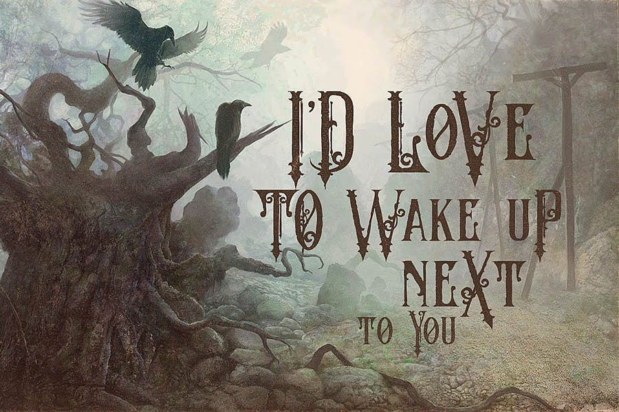 The Crow - Vintage Style Font - 1