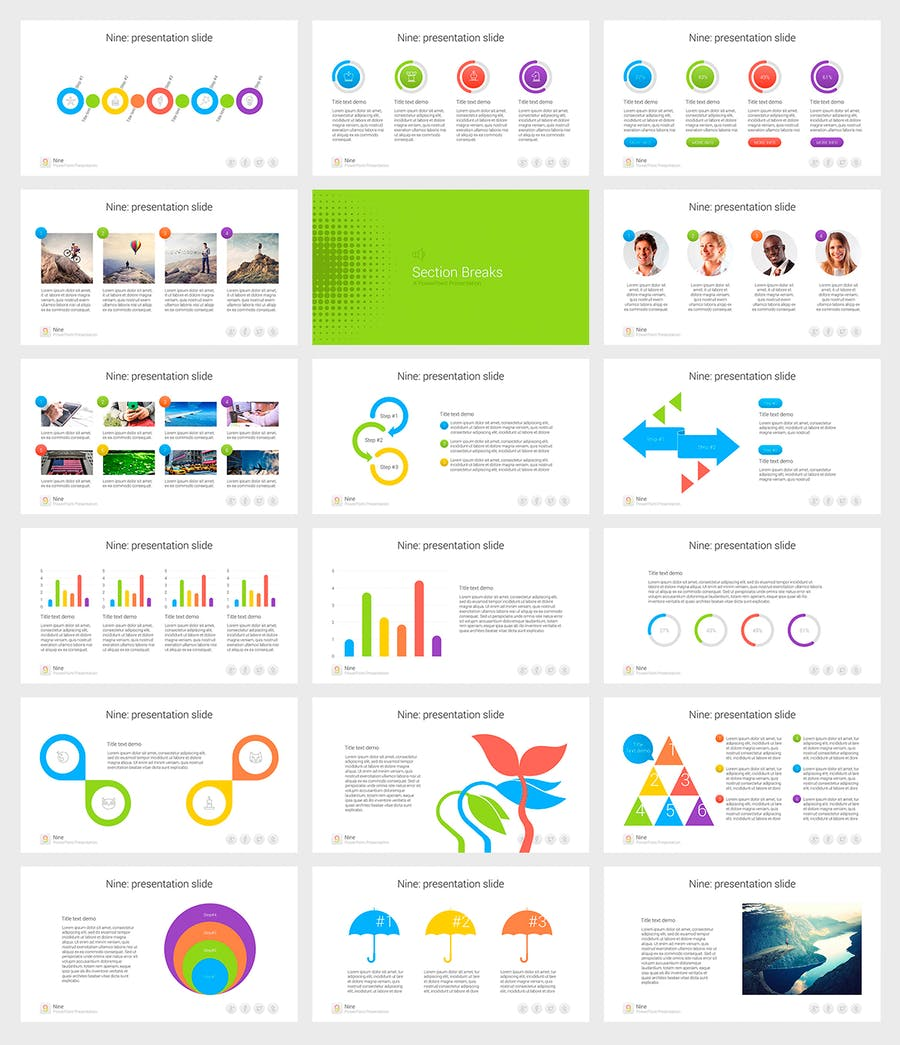 Nine - Multipurpose PowerPoint Template - 2