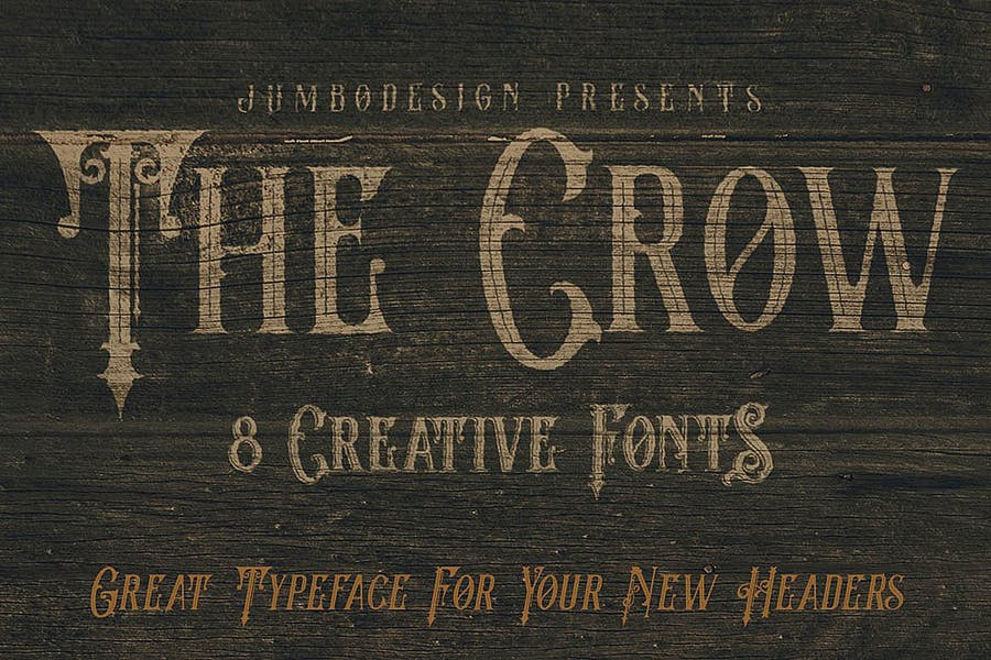 The Crow - Vintage Style Font - 2