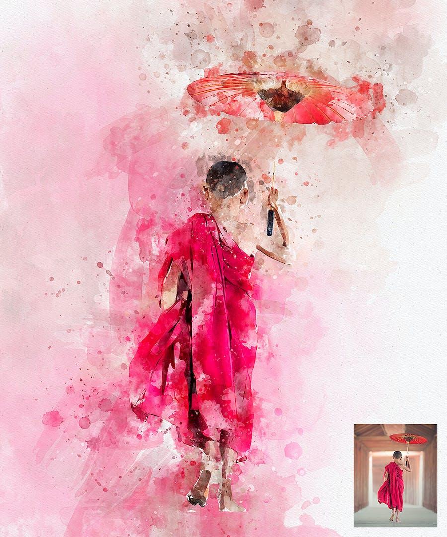 Perfectum 2 - Watercolor Artist Photoshop Action - 1