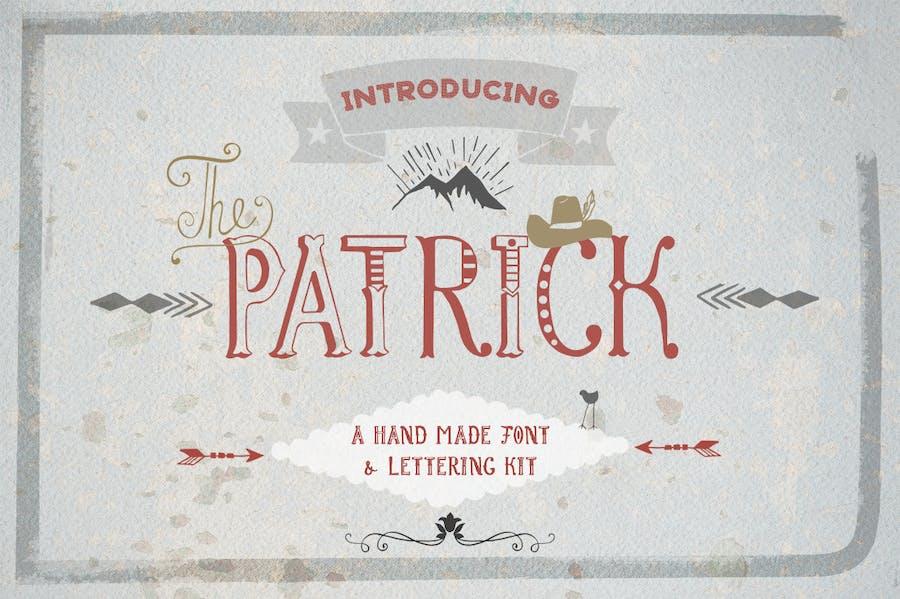 Patrick font & Lettering Kit - 0
