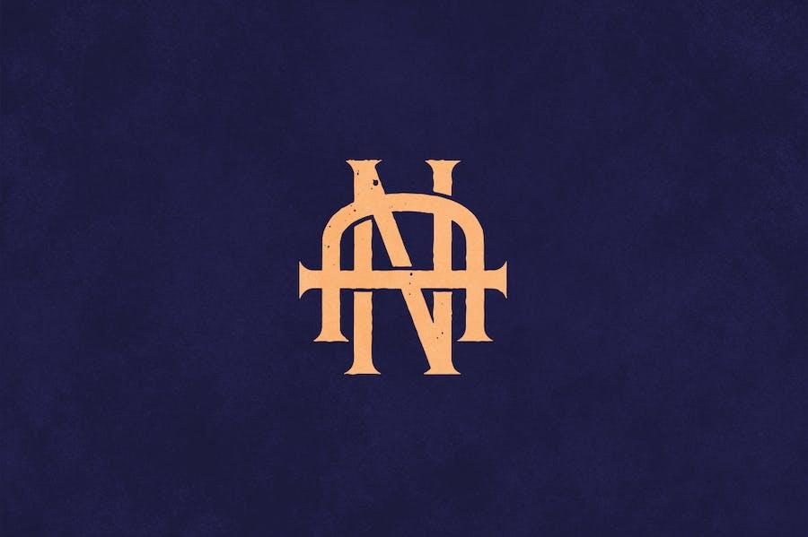 AN Vintage Monogram Logo - 1