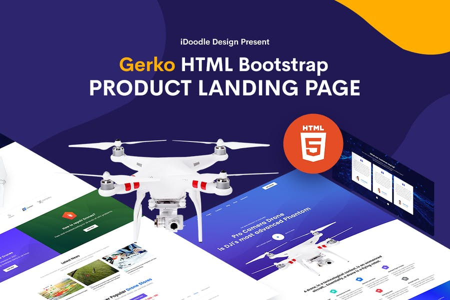 Gerko - Product Landing Page Template - 0