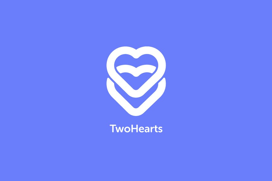 Two Hearts Logo Template - 1