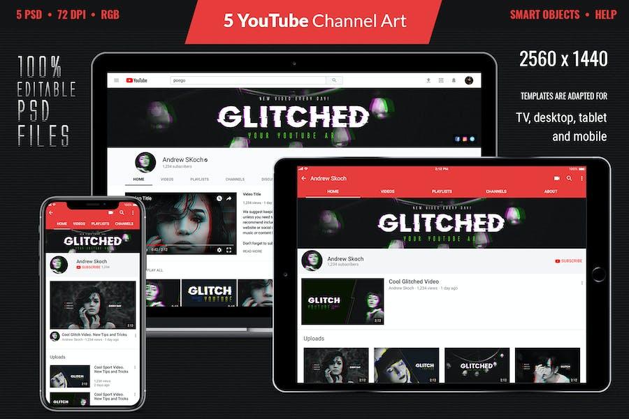 Glitch YouTube Channel Art - 3