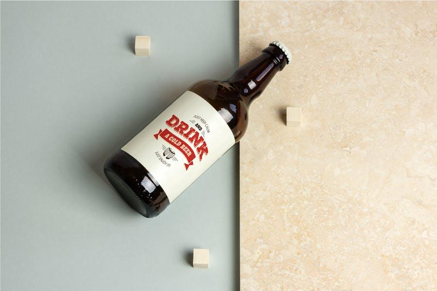 Beer Bottle Mock-up / Real Photo Scene - 2