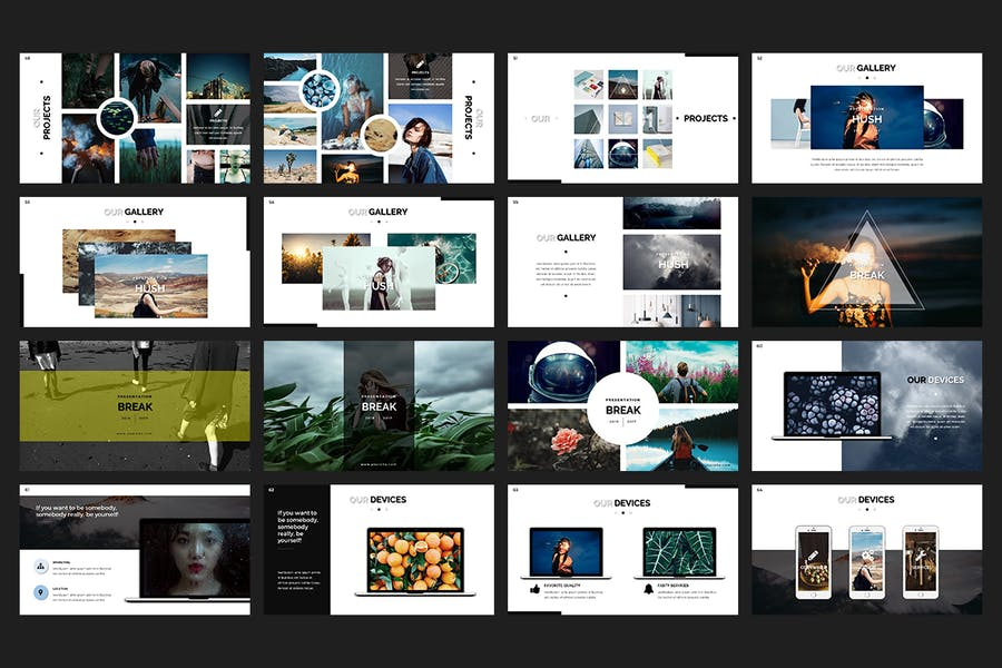 Hush PowerPoint Template - 3
