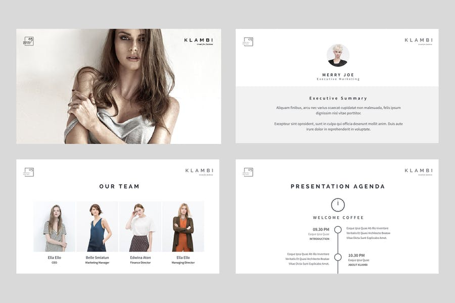 Fashion Keynote Template - 0