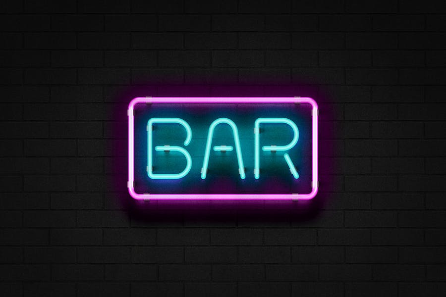 Neon Sign Photoshop Effect - 0