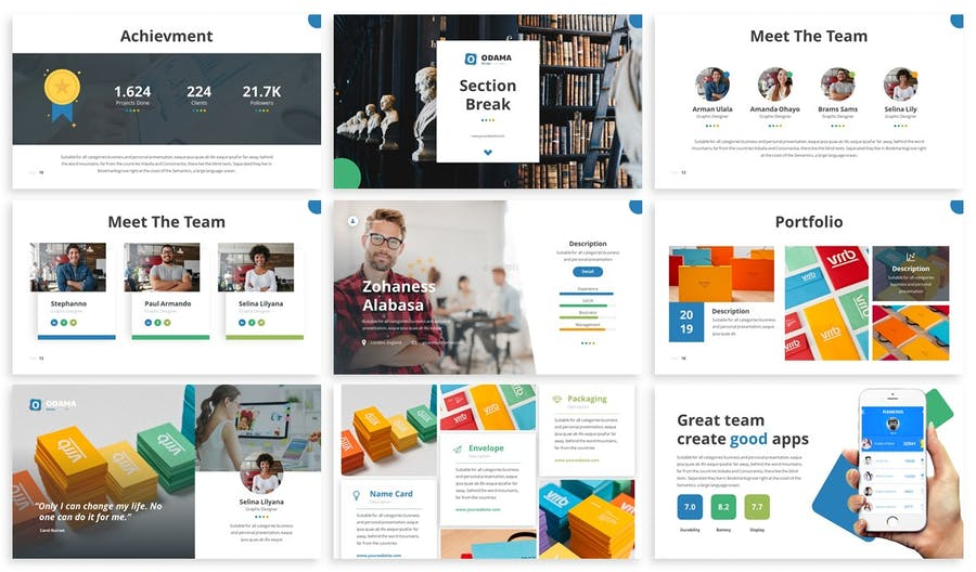 Odama - Multipurpose Powerpoint Template - 1