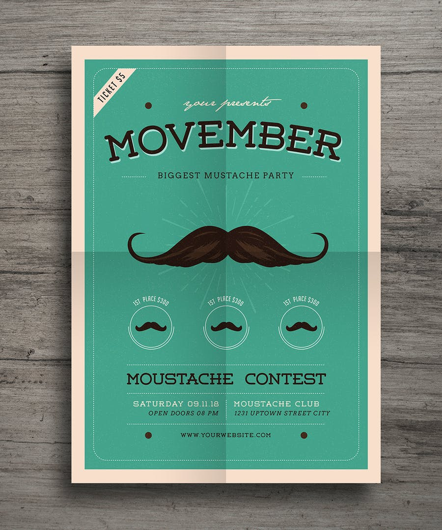 Movember Event Flyer - 1
