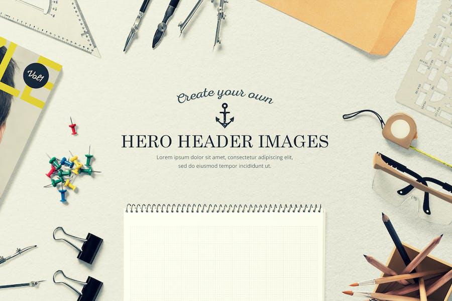 Hero Header Mockups Scene Generator  - 1
