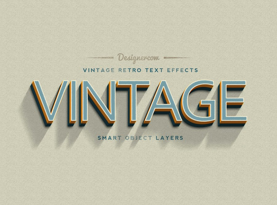 14 Vintage Retro Text Effects - 1