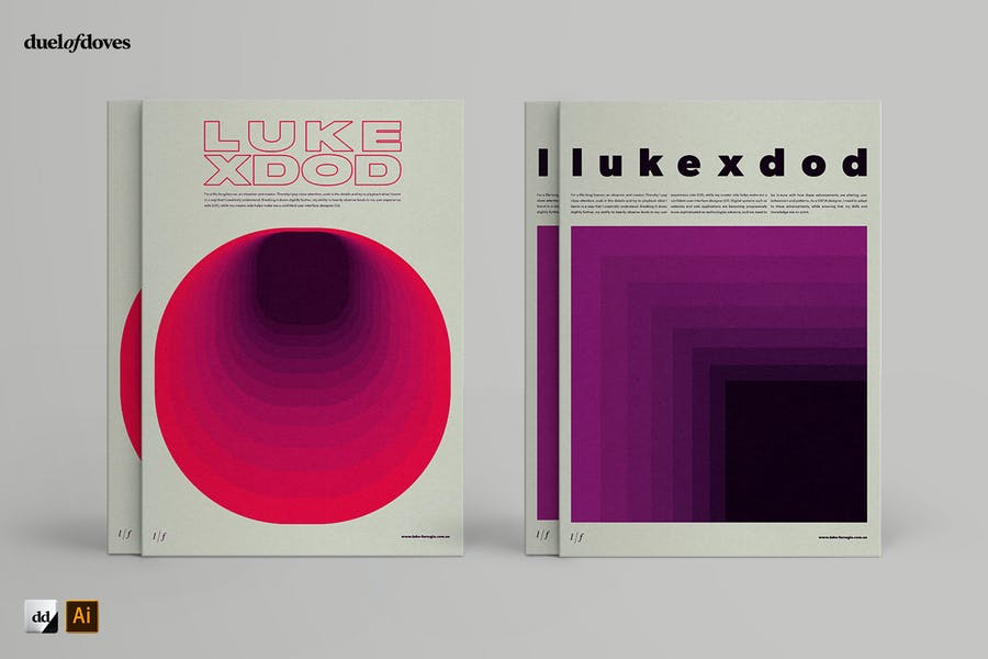Typographic resume posters - vol. 2 - 1