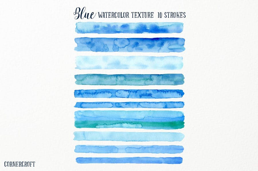 Watercolor Texture Blue - 1