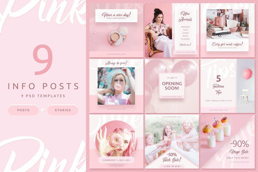 Pink Fashion - Instagram Posts & Stories - 3
