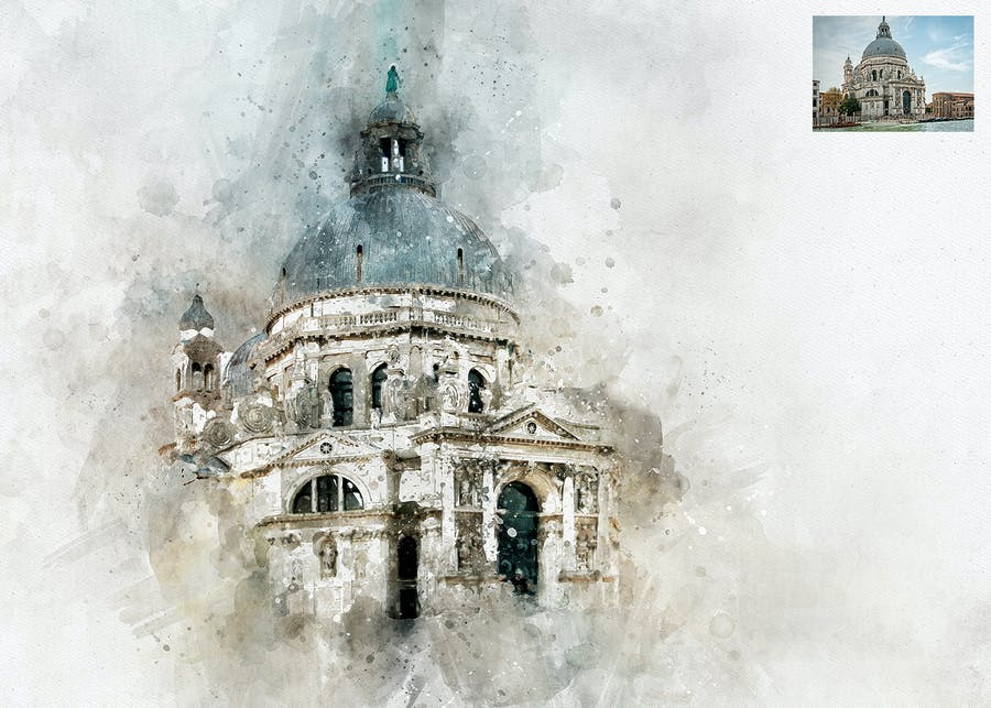 Perfectum 2 - Watercolor Artist Photoshop Action - 3