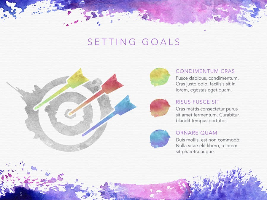 Watercolor PowerPoint Template - 3
