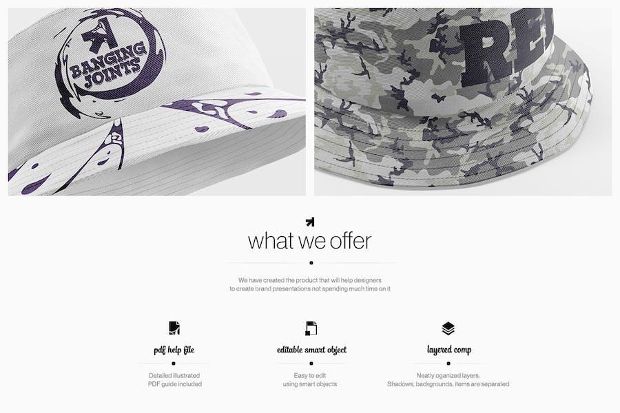 Bucket Hat Mockup Pack - 0