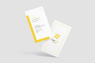 Portrait Business Card Mockup - 1