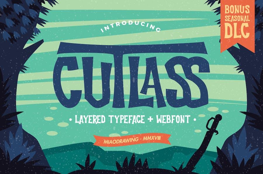 Cutlass Typeface - Lite - 0