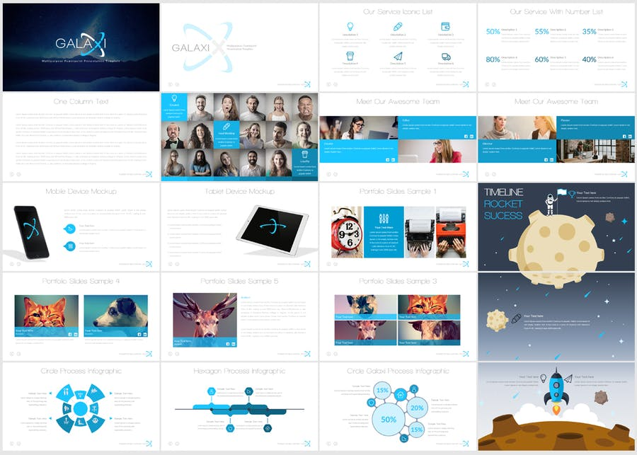 Galaxi Powerpoint Template - 0