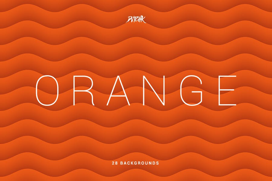 Orange | Soft Abstract Wavy Backgrounds - 2