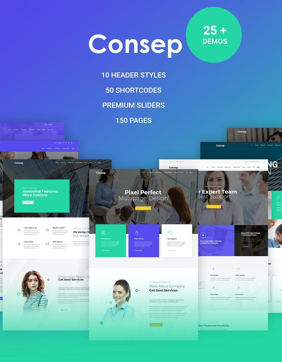 Consep - Responsive Multipurpose HTML5 Template - 0