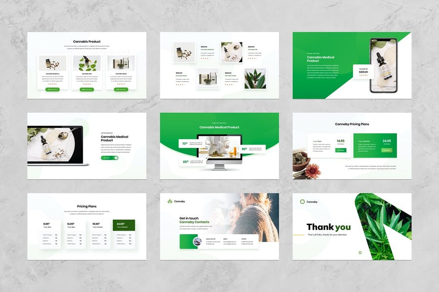 Cannaby - Cannabis Presentation Templates - 3