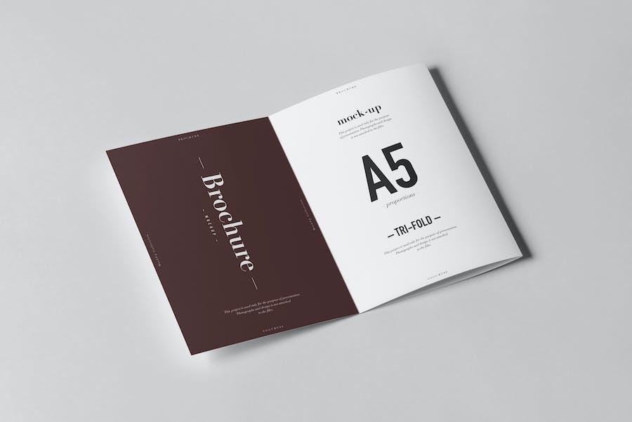 Tri-Fold A5 Brochure Mock-up 2 - 3