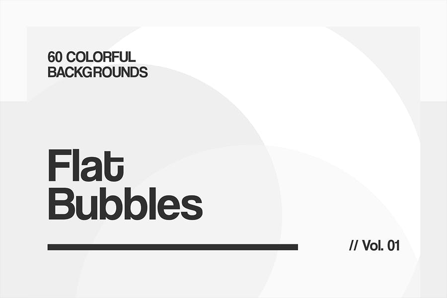 Flat Bubbles | Colorful Backgrounds | Vol. 01 - 2