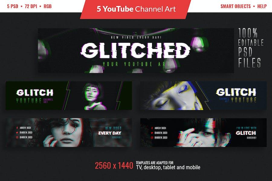 Glitch YouTube Channel Art - 0