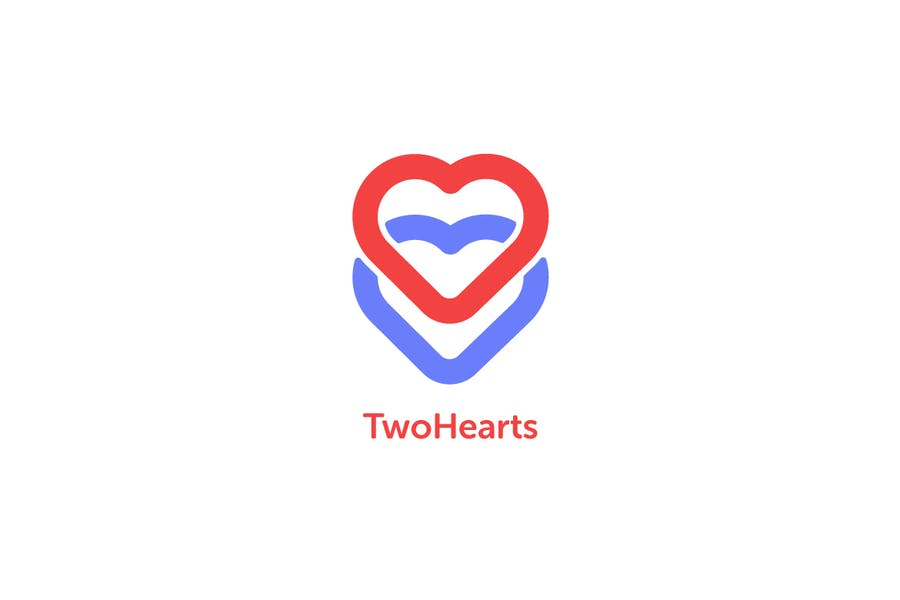 Two Hearts Logo Template - 0