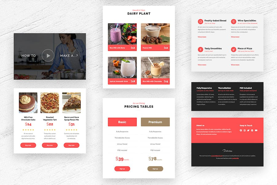Delicious - Magazine & Shop E-newsletter Template - 2