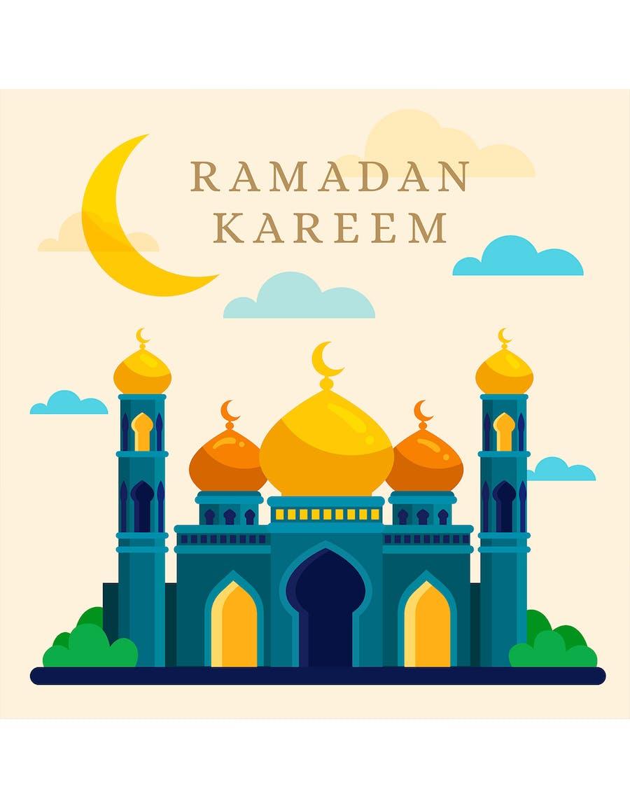 Flat Ramadan Kareem Mosque  - 0