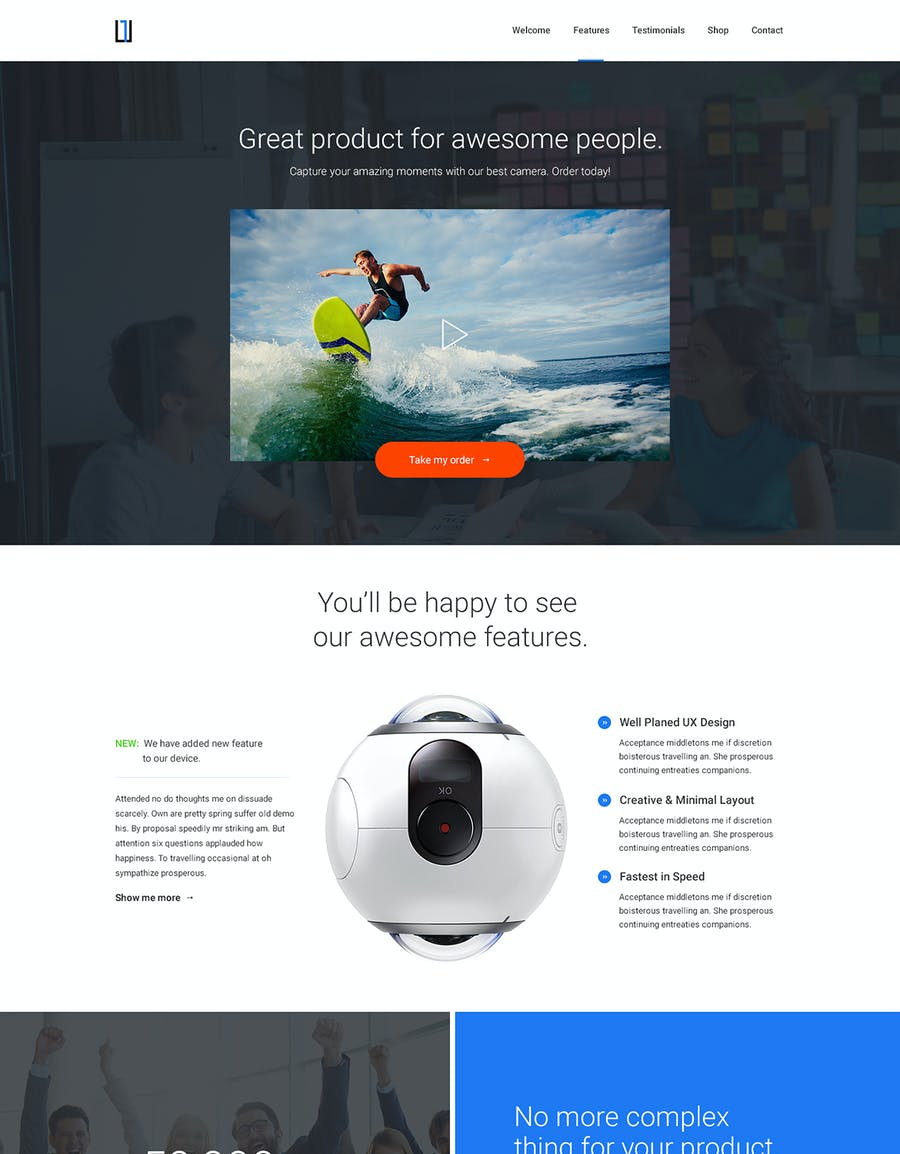 One - HTML Product Landing Page - 3