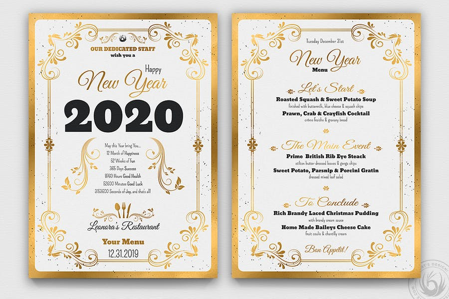 New Year Menu Template V1 - 0