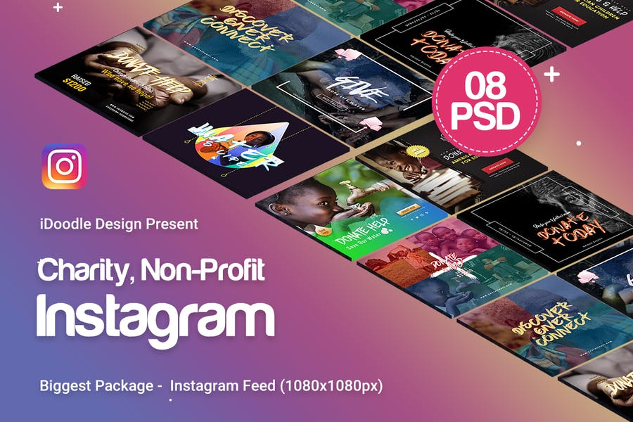 Charity / Nonprofit  Instagram Ads - 08 PSD - 0
