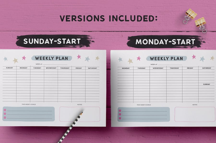 Weekly Planner Page Template - 0