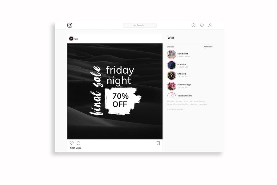 Black & White Instagram Posts Template - 3