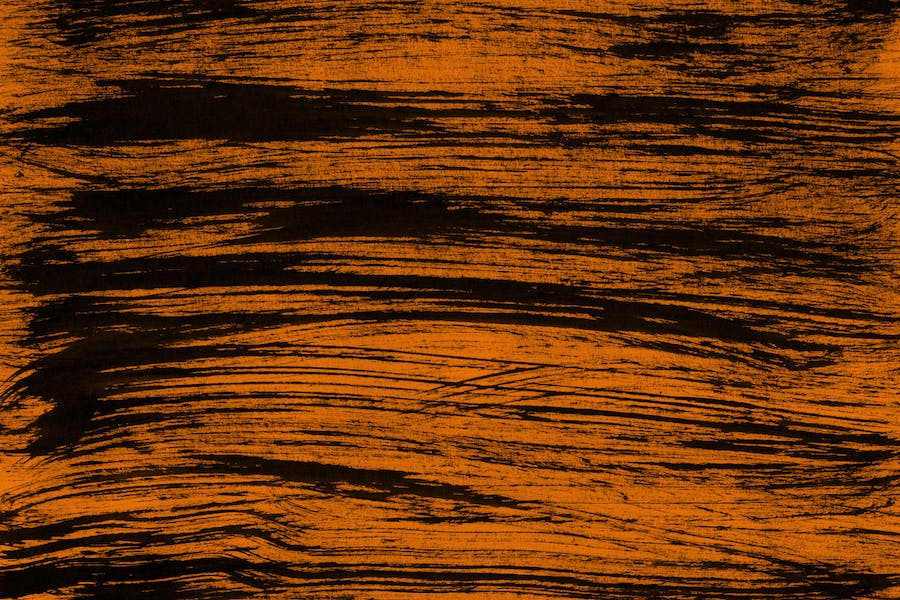 Orange Abstract Ink Textures - 2