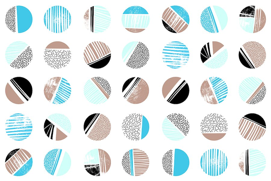 Abstract Patterns in Retro Memphis Style Design - 3