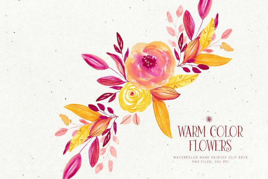 Warm Color Flowers - 1