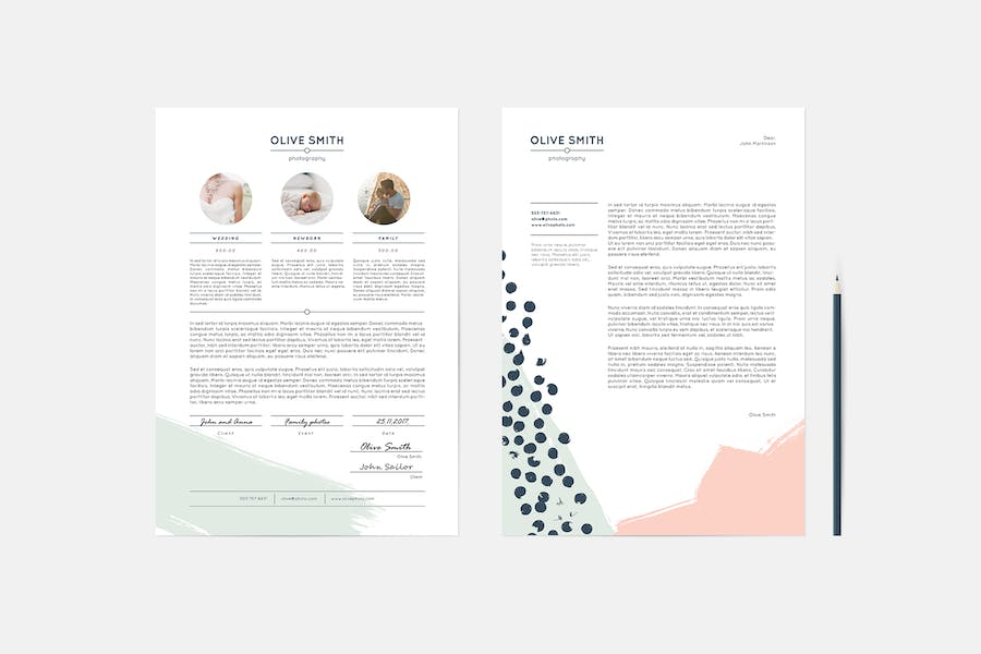 Olive Identity Stationery Template - 2