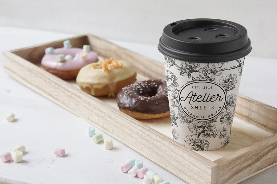 Coffee Doughnut Mockup - 0