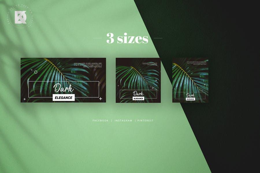 Natural Green Social Media Pack - 1