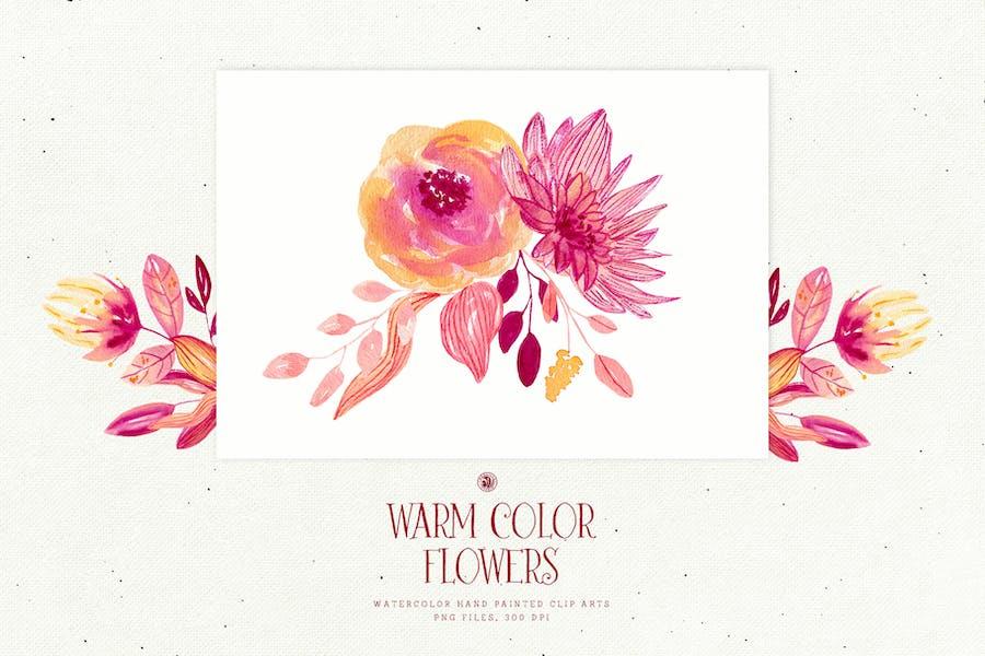 Warm Color Flowers - 2