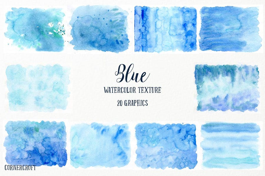 Watercolor Texture Blue - 2