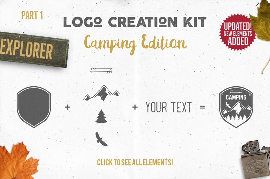 Logo Template Creation Kit - Camping Edition - 0